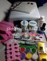 36W Lamp Bulbs Dryer Glitter Polish Nail Art UV Gel Manicure Curing Tips Set Kit 110 V 220 V for select BEMLP