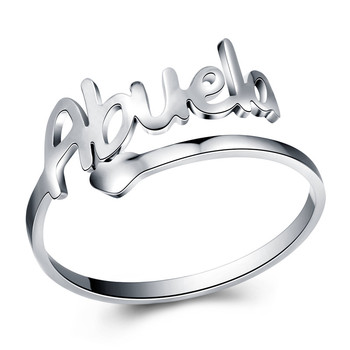 Stainless Steel Abuela Mama Ring Women Men Cuff Rings Love Grandmother Mom New Jewelry Gift Open Ring anillos mujer Silver Color image