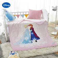 ורוד קפוא אלזה ואנה שמיכות שמיכות קיץ מודפס 100% כותנה מיטת תינוק מצעים 120*150 ס