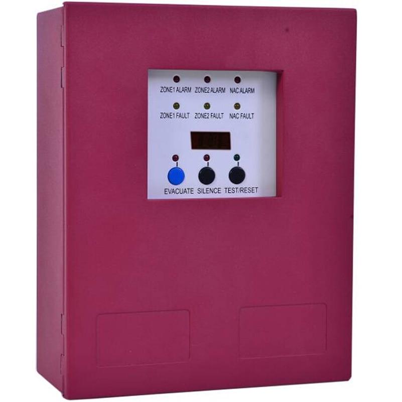 2 Zones Fire Alarm Control Panel MINI Fire Alarm Control System Conventional Fire Control Panel master or salve panel цена и фото