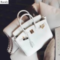 women big hand bag female leather bags famous brand shoulder bolsa feminina small gold lock messenger purses and handbags tote