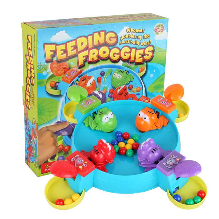 Frogs Hungrt Swallow-Beads Desktop-Games Parent-Child-Toys Small Brain-Moving with Leisure
