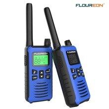 FLOUREON 16 каналов Twins рации PMR 446MHZ двухстороннее радио до 5000 метров/3,1 милей диапазон ручной переговорный СИНИЙ Великобритания/ЕС