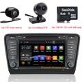 Android 5.1 de DVD Del Coche Para Skoda Octavia III Con 3G Wifi Radio Navegación GPS Buetooth DVR cámara de visión Trasera 8G tarjeta SD