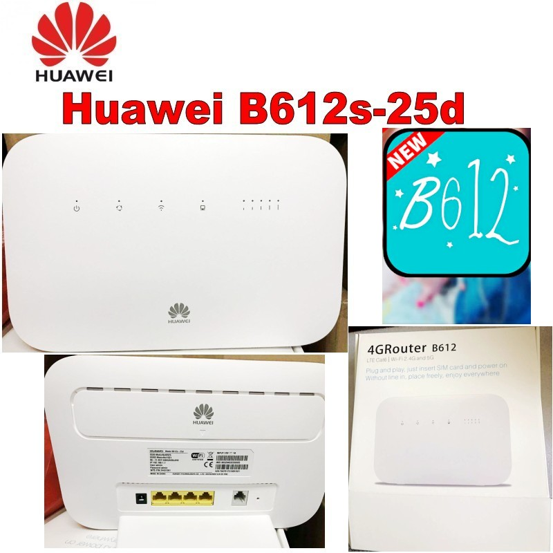 Lot de 100 pièces Débloqué Huawei B612 4G LTE Cat 6 routeur CPE B612s-25d 4G wifi routeur 300 Mbps