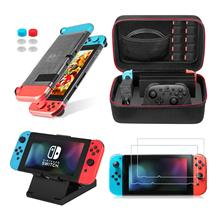 10 in 1 Travel Carrying Case&Clear Cover Case&Play Stand&Screen Protector&Joy-Con Cover& Thumb Caps For Nintend Switch Console