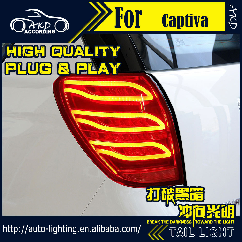 AKD Car Styling Tail Lamp for Chevrolet Captiva Tail Light 2008-2016 LED dynamic Signal LED DRL Stop Rear Lamp Accessories