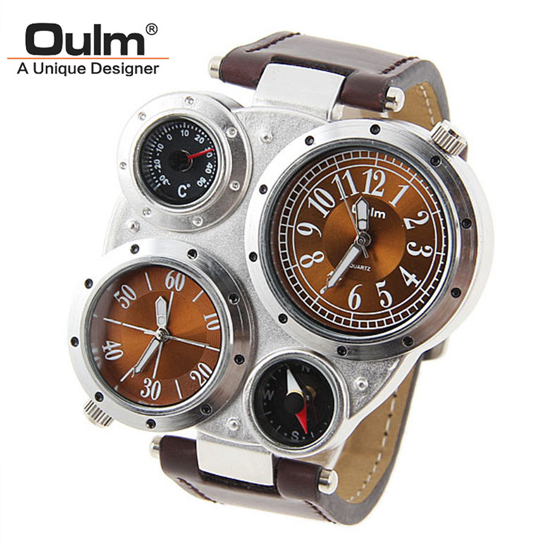 2017 New Oulm Brand Specialty Adventure Military Quartz Watch Multi-Function Men Wristwatch Hour Free shipping Drop Shipping oulm brand adventure men s quartz military watches with dual movt compass