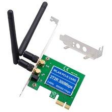 PCIe Беспроводная 300 Мбит/с внутренняя PCIe WiFi карта PCI Express сетевая карта для ПК настольный 2,4 ГГц двойная антенна 2T2R PCI-e WLAN карта