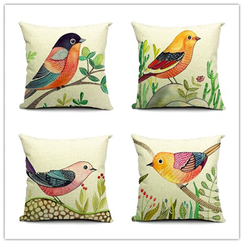 European Decorative Pillows : Aliexpress.com : Buy Fashion European Decorative Cushions New Arrival Birds Style Throw Pillows ...