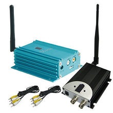 2000mW High Power Long Transmit DistanceAV Transmitter, 2.4Ghz Wireless CCTV Video Sender with 4000m