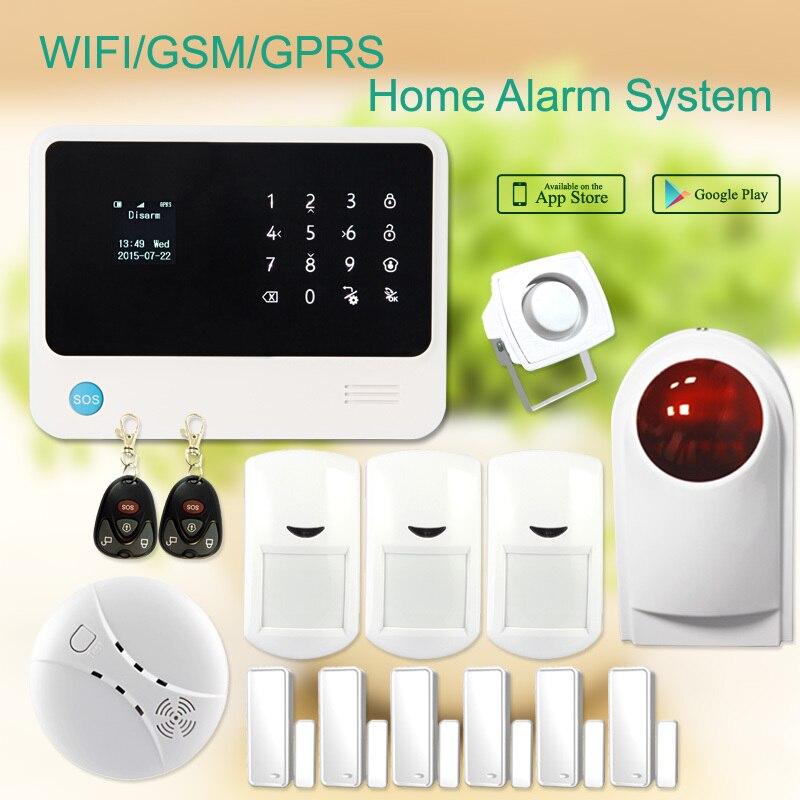 G90B плюс gsm wifi охранная сигнализация s сигнализация для дома с gsm wifi gprs приложение управляемая сигнализация и домашний WiFi охранная сигнализац