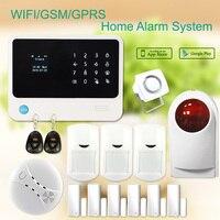 G90B плюс gsm Wi Fi охранной Сигнализации s gsm безопасности дома Wi Fi gprs APP контролируемых аварийная система и домашний Wi Fi Комплект охранной сигнал