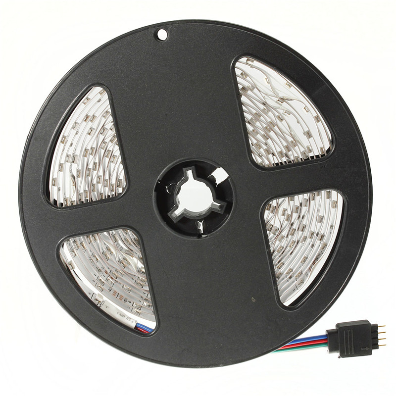 Smuxi 5M DC 12V RGB Flexible LED Strip Light 3528SMD Sting Ribbon Adhesive Tape TV Backg ...