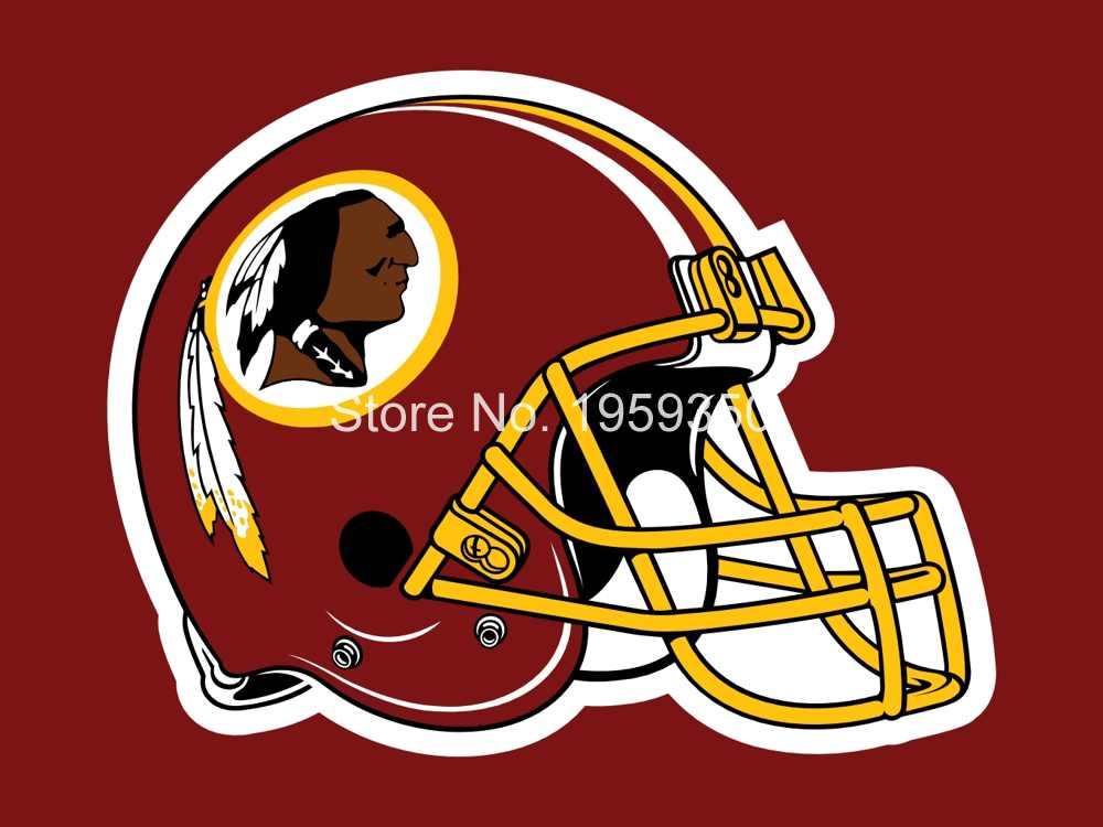 sports shoes 06187 ea598 Washington Redskins helmet flag 3x5 FT Banner 100D Polyester ...