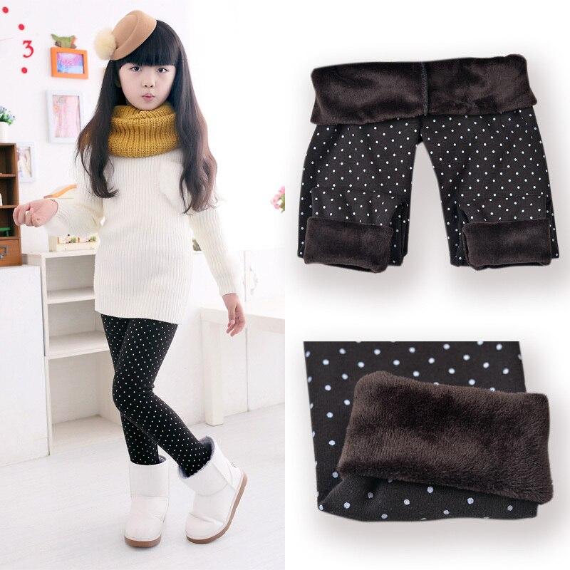 SheeCute primavera Otoño Invierno nueva moda niños 3-11 años algodón cálido pantalón niñas KidsTrousers estampado Legging