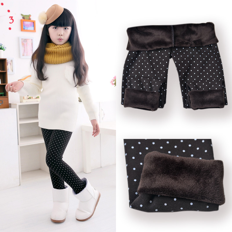SheeCute Vår Höst Vinter Ny Mode Barn 3-11 år Bomull Varm Pant Girls KidsTrousers Print Legging