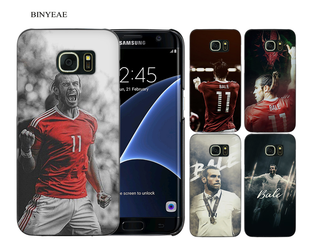 BINYEAE Gareth Bale GB11 Black Hard Case Cover Shell Coque for Samsung Galaxy S9 S8 Plus S7 S6 Edge