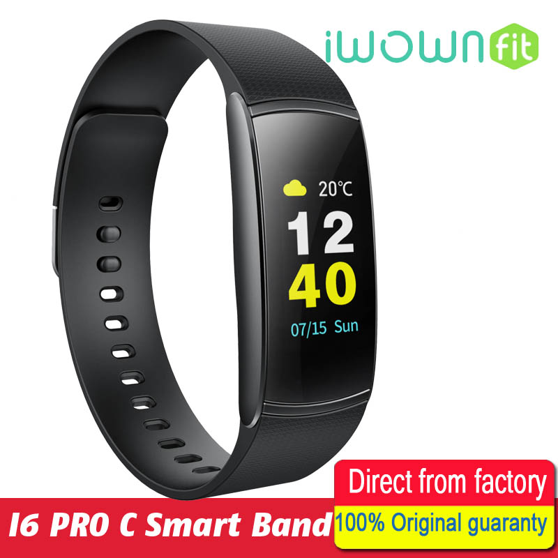iWOWNfit i6 Pro C Fitness Bracelet IP67 Waterproof Smart Band Heart Rate Monitor Smart Wristbands Color Screen for IOS Android