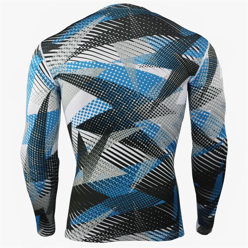 New Camouflage Military T-shirt Bodybuilding Tights Fitness Men's Dry Quick Camo Long Sleeve T Shirts Crossfit Compression Shirt