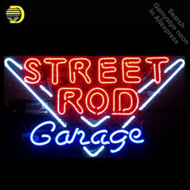 Personalized Neon Signs Gorgeous NEON SIGN For Street Rod Garage Board REAL GLASS Tube Store Display