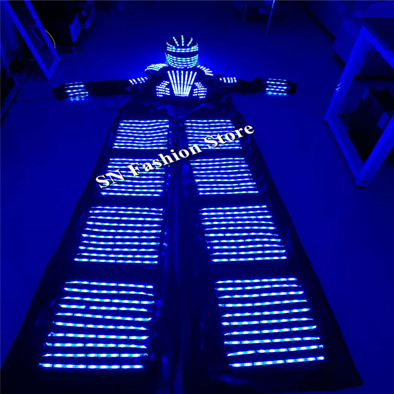 HH811 Colorful <font><b>LED</b></font> light robot luminous suit nightclubs party event supply <font><b>dj</b></font> disco ballroom dance costumes clothes <font><b>helmet</b></font>