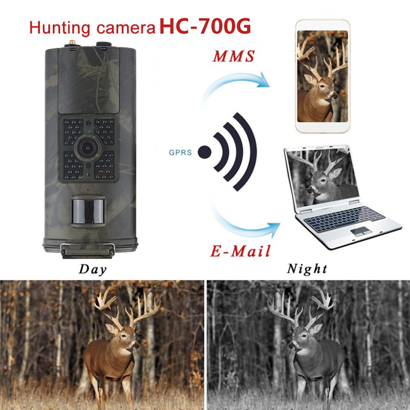 HC700G 16MP Trap Camera Infrared Night Vision Hunting Camera 3g SMS MMS GSM 1080p SMTP GPRS