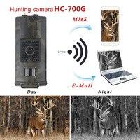 HC700G 16MP ловушка камера инфракрасного ночного видения охотничья камера г 3G SMS MMS GSM 1080 P SMTP GPRS Цифровая охотничья следная камера