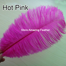 Wholesale hot pink ostrich