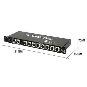 Image 5 - Foto elektrische Isolatie 8CH DMX Splitter/DMX Podium Licht Signaal Versterker Splitter/8 Manier DMX Distributeur Met Optische Isolatie