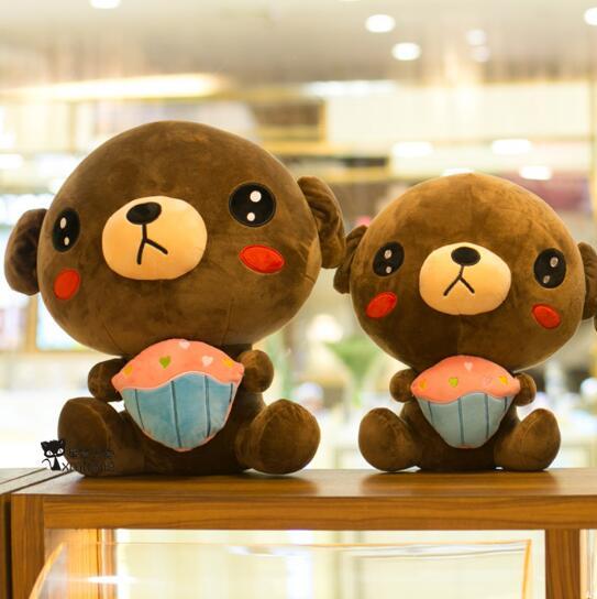 50cm Creative plush teddy bear doll bear plush toys  birthday gift new creative plush bear toy cute lying bow teddy bear doll gift about 50cm