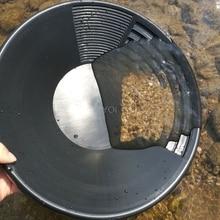 Plastic Gold Basin Nugget Mining Pan Dual Riffle Dredging Prospecting River Tool