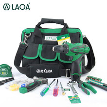 LAOA 35PCS EU Plug Power Tools Set 18 Gears 12V Li-ion Electric Drill Torque Adjustable Electrical Drill With Measue tape Pliers(China)