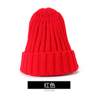 Koeran Stil Kış Şapka Erkekler Ve Kadınlar Için Rahat Moda Yün Şapka Kırmızı Yeşil Mor Koyu Mavi Sarı Gül Siyah