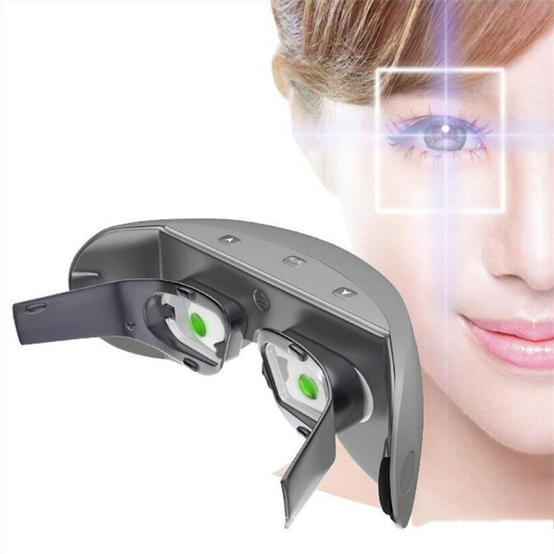 Wireless 3D Rechargeable Green Light Eye instrument Restore vision Eye Massager Child Myopia Treatment Massage eye glasses cat eye glasses tinize 2015 tr90 5832