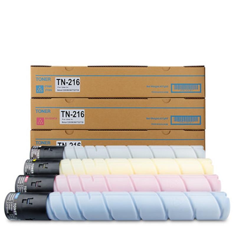 1pcs Compatible Konica Minolta TN216/TN319 K/Y/M/C toner cartridge for bizhub C220,C280,C360 4 pack high quality toner cartridge for konica minolta bizhub c224 c284 c364 compatible tn321 bk c y m full
