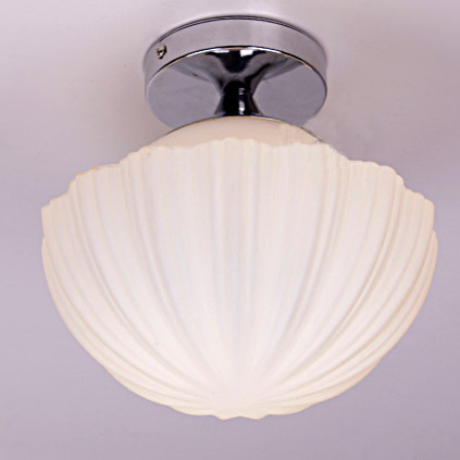 8.3  White Glass Shell Ceiling Light Modern Free Shipping Porch hallway balcony Polihed Chrome Pumpkin Ceiling lamp mbs felicia 160 glass white