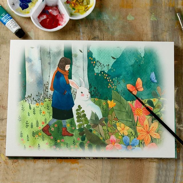 Papier aquarelle A3/A4/A5 croquis aquarelle peinture débutant 230g aquarelle peinture papier art fournitures