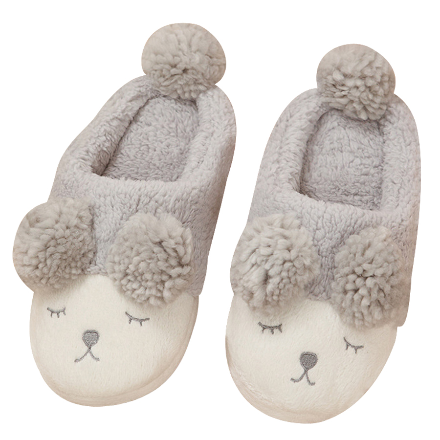 Cute Sheep Animal Women Winter Home Slippers Warm Cotton Floor Shoes For Indoor Bedroom House Soft Bottom Plush Flats cute sheep animal cartoon women winter home slippers for indoor bedroom house warm cotton shoes adult plush flats christmas gift