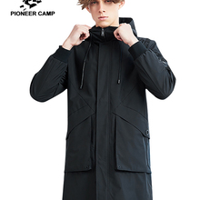 Pioneer camp new autumn winter trench coat men brand clothing solid ho