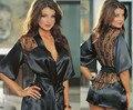 2017 moda sexy ropa interior nueva caliente negro abierto frente abierto camisón de Interés juguetes sexuales envío libre de estilo Europeo y Americano