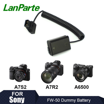 Lanparte D-tap FW50 Fixed Voltage Dummy Battery Pack for Sony A7SII A7 A6500 Camera