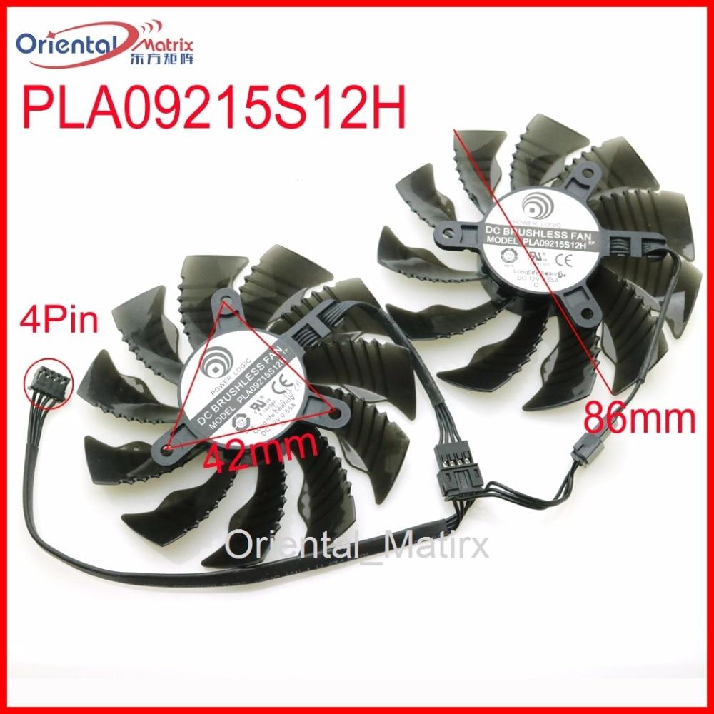 Free Shipping PLA09215S12H 12V 0.55A 86mm 4Pin For Gigabyte GTX1060WF2OC GTX1050TI GTX1050 GTX1060 Graphics Card VGA Cooling Fan