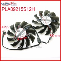 Free Shipping PLA09215S12H 12V 0 55A 86mm 4Pin For Gigabyte GTX1060WF2OC GTX1050TI GTX1050 GTX1060 Graphics Card