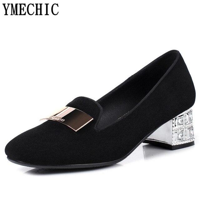Chaussures à bout carré bleues Casual femme tvhJrB6