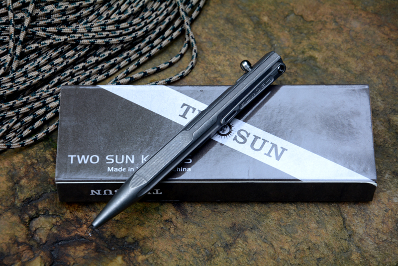 TWO SUN titanium Drill Rod tactical pen camping hunting outdoors survival practical EDC MULTI utility write pens tools цены онлайн