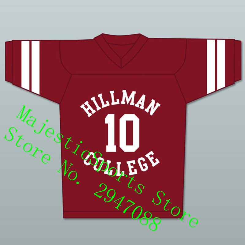 Рональд Рон Джонсон 10 Хиллман Колледж Maroon Футбол Джерси другой мир S-3XL новые стежков Американский Футбол Джерси ...