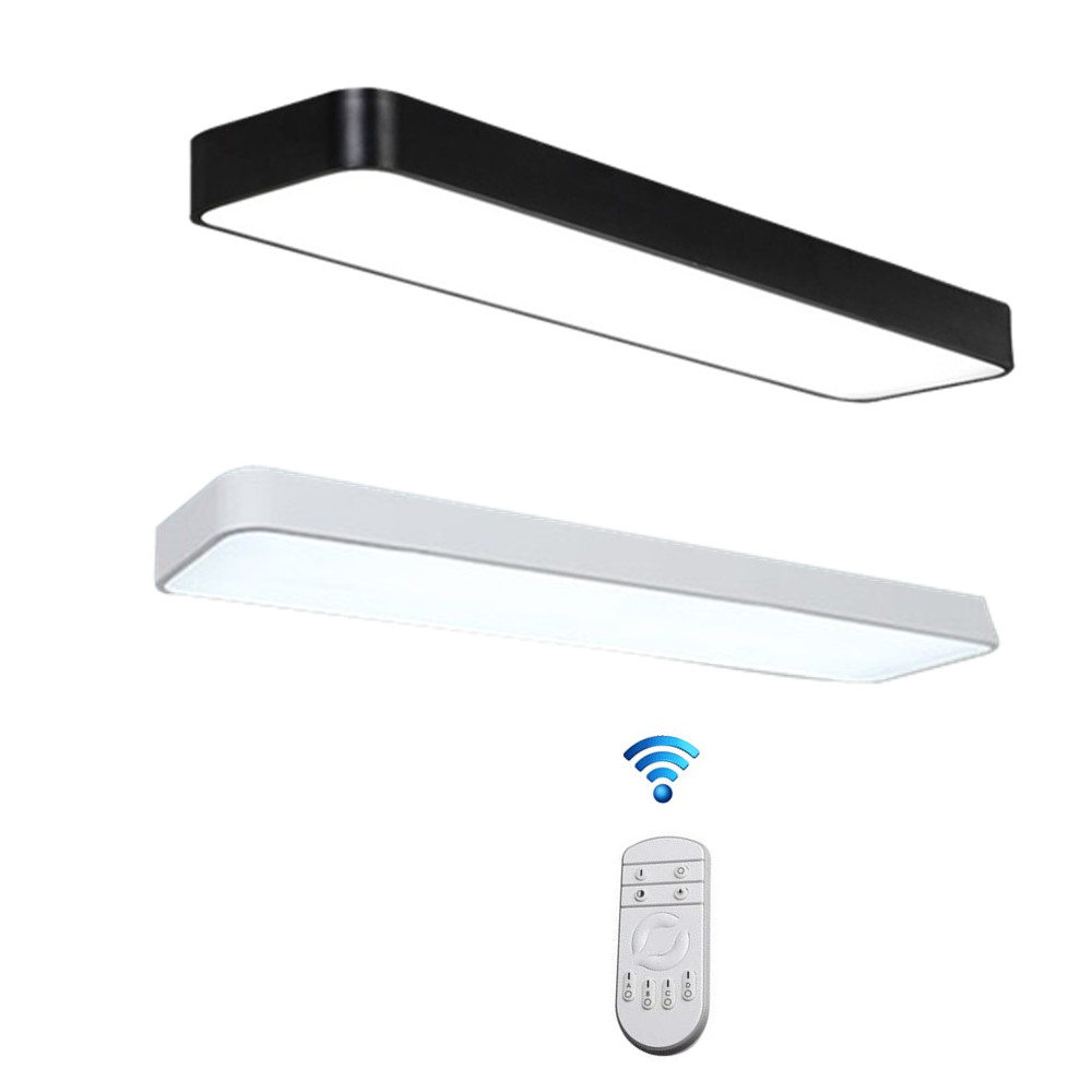 Modern Led Ceiling Light Lamp Lighting Fixture Rectangle Living Room Office Surface Mount Bedroom 220v 110v Panel Remote Control Back To Search Resultslights & Lighting