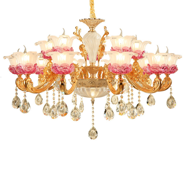 Crystal Chandelier For Living Room Crystal Chandelier Gold Hotel Restaurant Chain Chandelier Lighting Villa Stairs Luxury Light