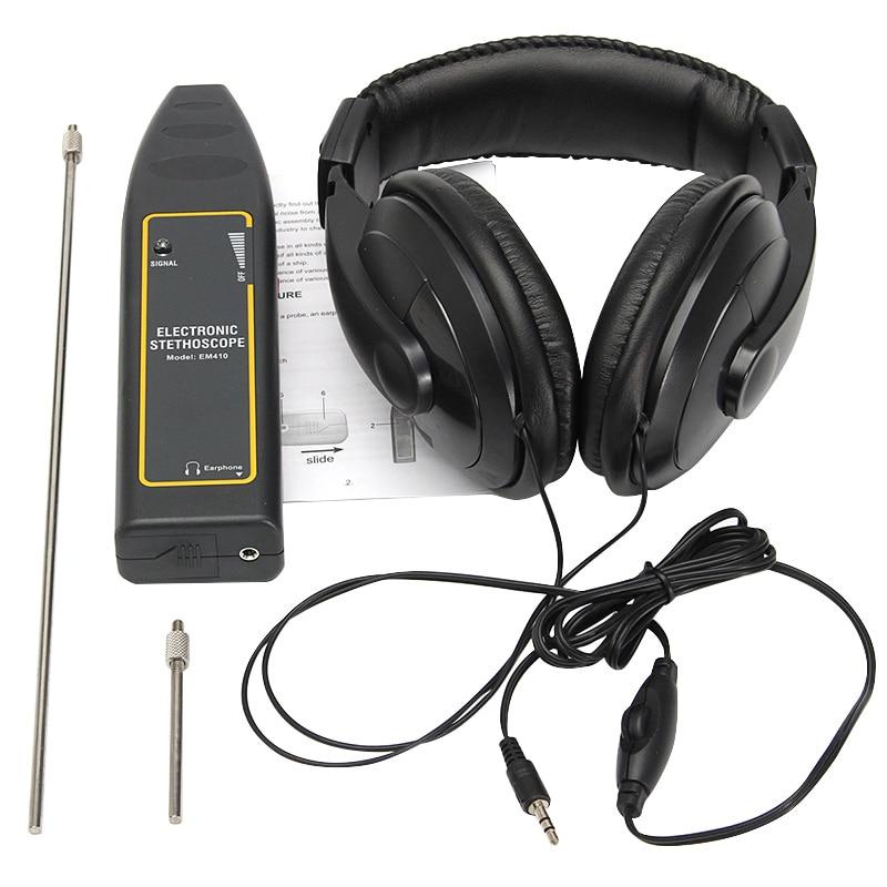 EM410 voiture testeur bruit électronique trouveur moteur panne stéthoscope diagnostiquer la Machine 100Hz ~ 10 kHz Auto voiture outils de Diagnostic